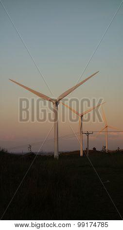 Wind Turbines at Dusk