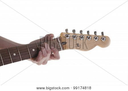 Woman's Hand And Guitar Chords
