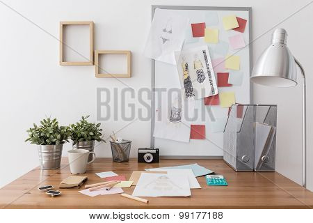 Workplace With Office Supplies