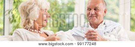 Elder Man And Woman
