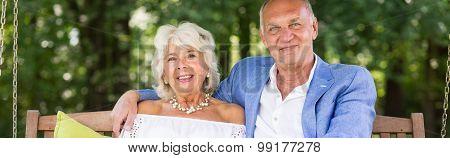 Elder Couple's Anniversary