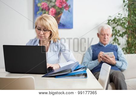 Busy Couple