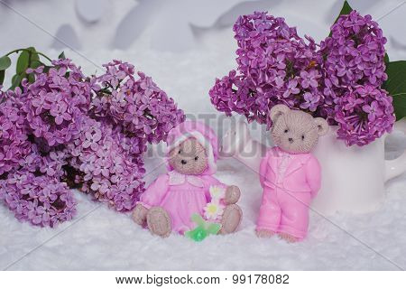 Handmade Soap Formed Like Teddy Bears