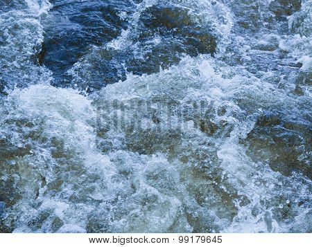 Powerful Torrent Of Water