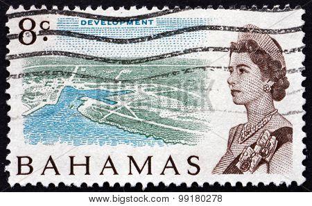 Postage Stamp Bahamas 1967 Island Development And Queen Elizabeth Ii