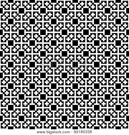 Monochrome cross seamless pattern. Black&white