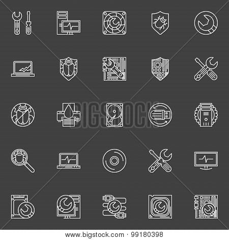 Computer repair icons