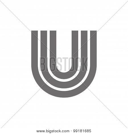 Letter U Logo Concept Icon. Vector