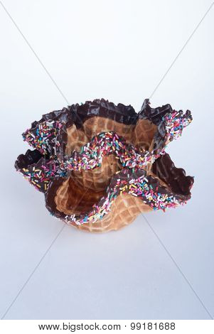 Wafer Bowl. Wafer Bowl On A Background