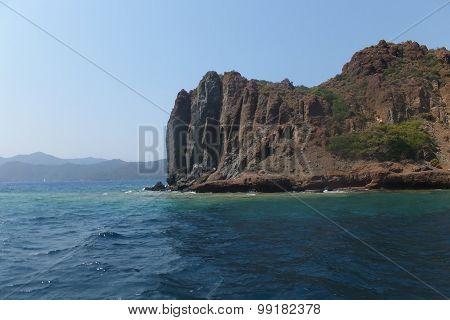 The island in the Aegean Sea, Turkey, Marmaris