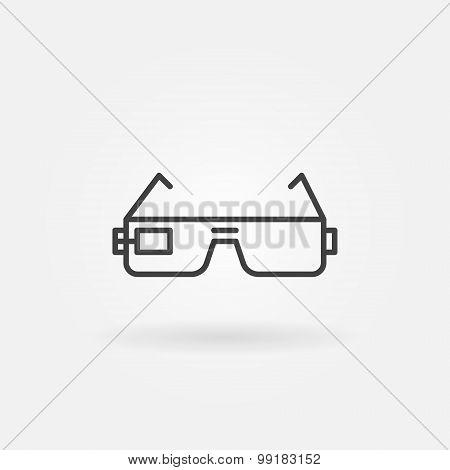 Smart glasses icon