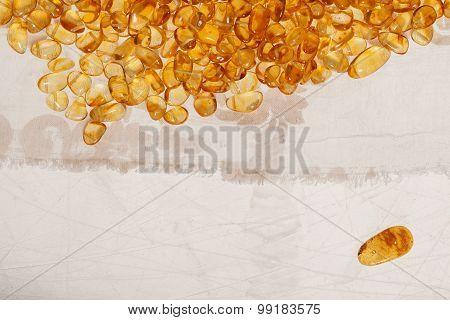 Yellow Amber Stones