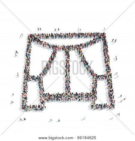 group  people  shape  window