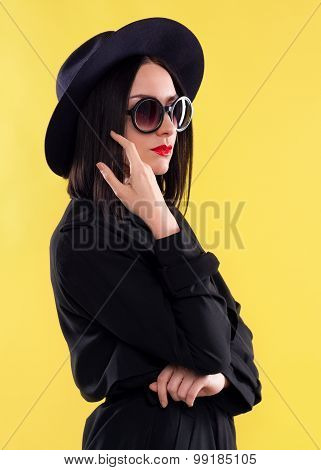 Fashion Stylish Lady In Sunglasses