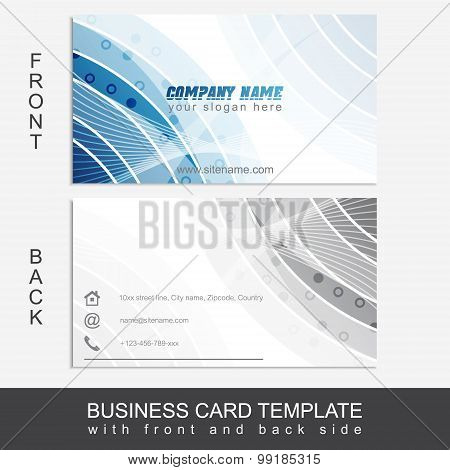 Modern abstract business card template or visiting card set