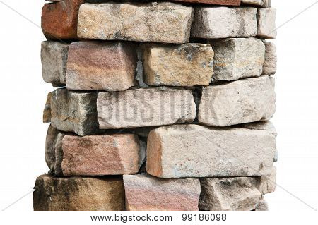 Pole stone decoration at home