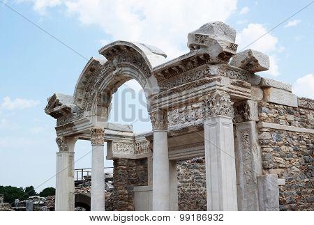 Ancient Ruins In Ephesus In Turkey