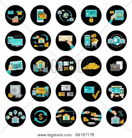 Set Banking Icons.