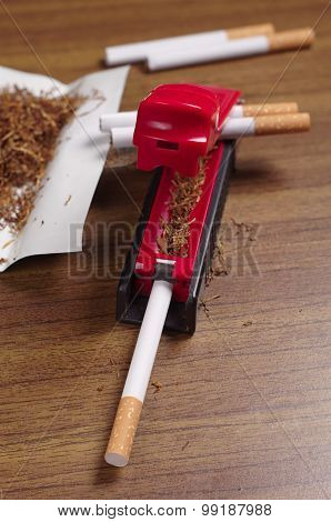 Rolling Machine And Cigarettes