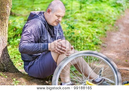 Man in accident with bicycle