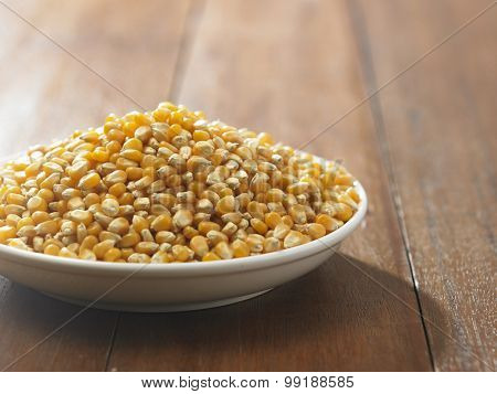 maize corn in a white container