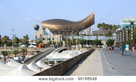 Promenade And Whale Sculpture