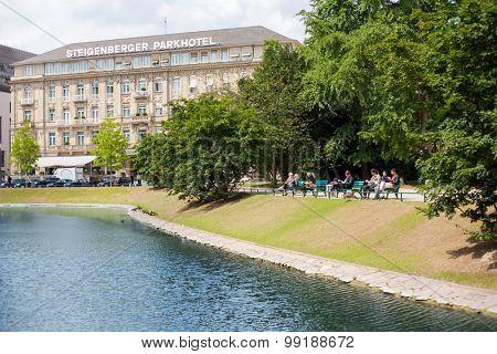 DUSSELDORF, GERMANY - JULY, 2015: Steigenberger Parkhotel in Dusseldorf Germany