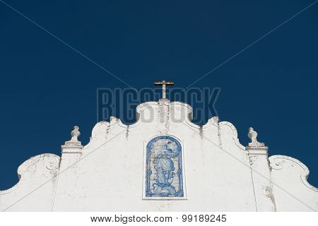 Facade of small country church in Alentejo