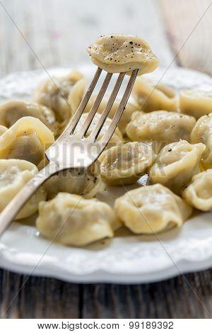 Dumpling On A Fork.