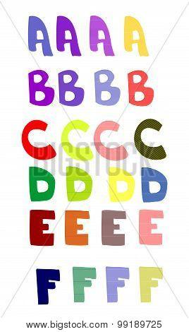 Letters decorative vector illustration