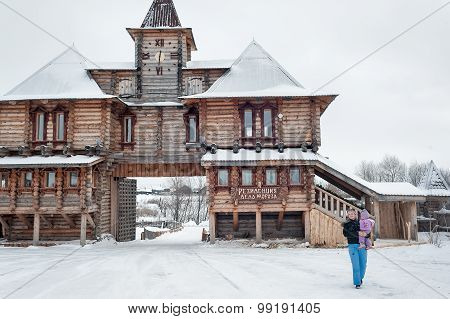 Wooden hotel of abalak tourist complex