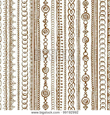 Seamless  Doodles Ethnic Pattern.