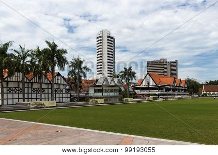 Modern Buildings And Green Field In The City Centre Of Kuala Lumpur