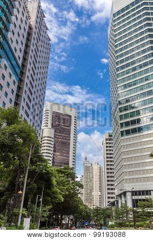 Modern Office Buildings In The Center Of Kuala Lumpur