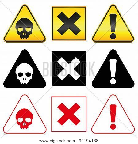 Warning Hazard Danger Symbols