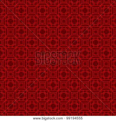 Seamless Chinese geometry square polygon lattice window tracery pattern background.