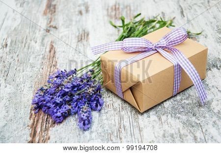 Lavender And Gift Box