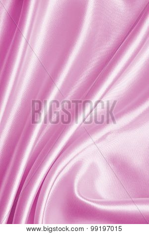 Smooth Elegant Pink Silk Or Satin Texture As Background