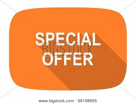 special offer flat design modern icon with long shadow for web and mobile app