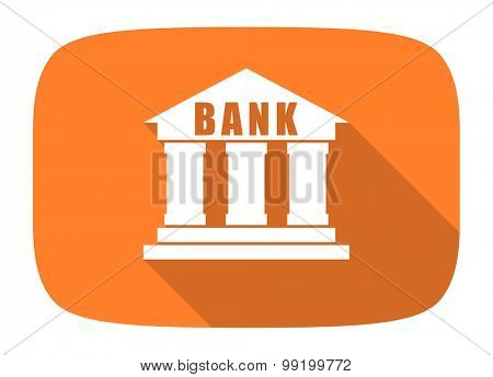 bank flat design modern icon with long shadow for web and mobile app