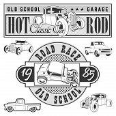 Постер, плакат: Vintage race car