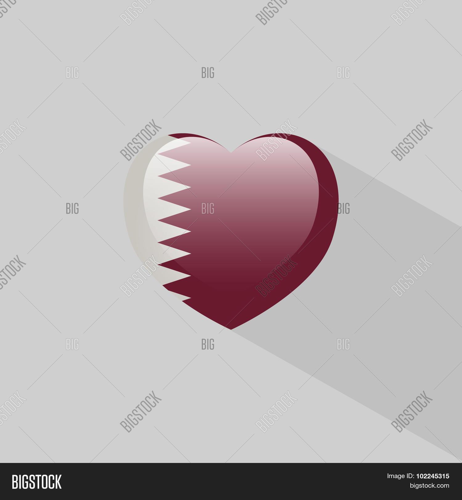 Love qatar symbol shadow vector photo bigstock love qatar symbol with shadow buycottarizona Image collections