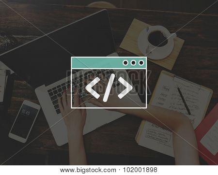 Programing Coding Script Technology Website Program Concept