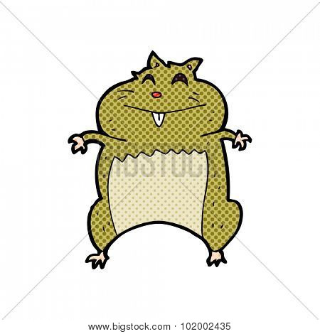 comic book style cartoon hamster