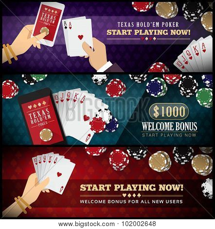 Hold'em Poker Banner Set