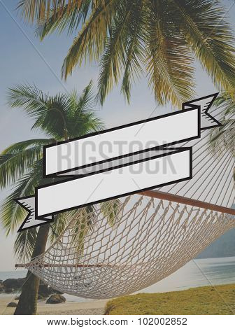 Relax in a Hammock on Holiday Beach Concept