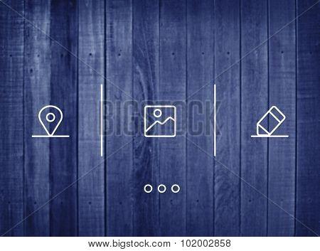Application Icon Multimedia Media Button Concept