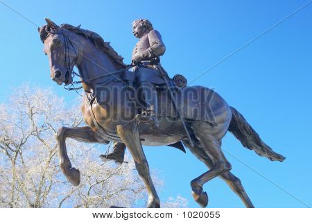Civil War General On Horseback
