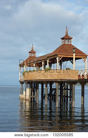 Pier on Lake Llanquihue