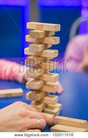 Jenga blocks.